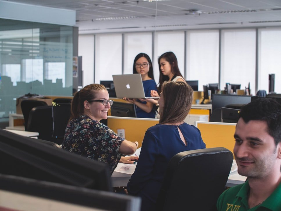 Employees in Office Setting