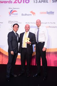 """Links International awarded for """"The Best Career Website"""" at the Asia Recruitment Awards in Singapore."""