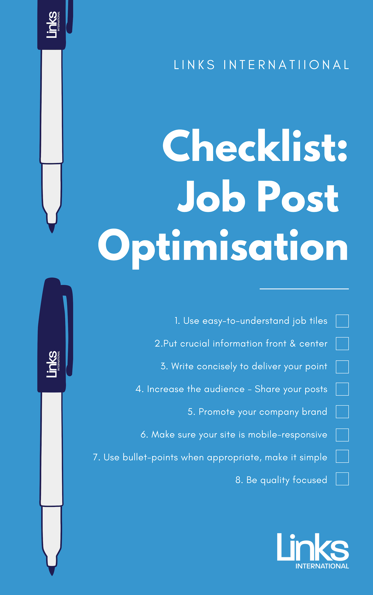 Job Post Optimisation Checklist