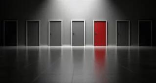Series of Doors; One Red