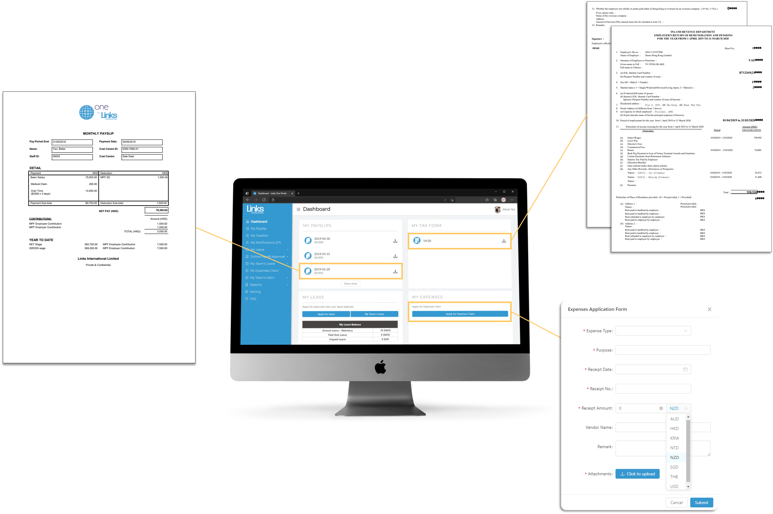 Links One Payroll _ Enhanced Interface